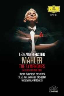 Gustav Mahler (1860-1911): Bernstein/Mahler DVD-Edition - Symphonien Nr.1-10, 9 DVDs