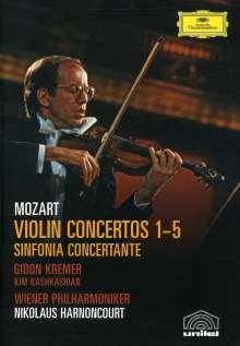 Wolfgang Amadeus Mozart (1756-1791): Violinkonzerte Nr.1-5, 2 DVDs