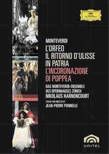 Claudio Monteverdi (1567-1643): Die 3 Opern:Orfeo;Ulisse;Poppea (Zürich/Harnoncourt), 5 DVDs