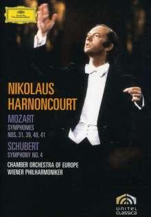Wolfgang Amadeus Mozart (1756-1791): Symphonien Nr.31,39-41, 2 DVDs