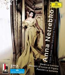Anna Netrebko - Live from the Salzburg Festival, 3 Blu-ray Discs