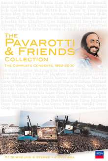 Pavarotti & Friends: Collection - Complete Concerts 1992 - 2000, 4 DVDs