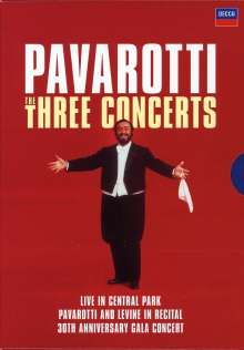 Luciano Pavarotti - The Three Concerts, 3 DVDs