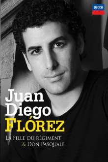 Juan Diego Florez in La Fille du Regiment & Don Pasquale, 3 DVDs
