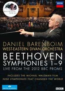 Ludwig van Beethoven (1770-1827): Symphonien Nr.1-9 (Beethoven für alle), 4 DVDs