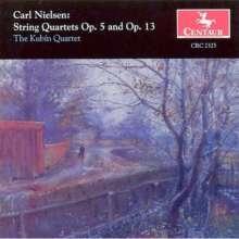 Carl Nielsen (1865-1931): Streichquartette opp.5 & 13, CD