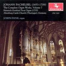 Johann Pachelbel (1653-1706): Sämtliche Orgelwerke Vol.7, CD