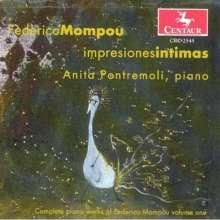 Federico Mompou (1893-1987): Sämtliche Klavierwerke Vol.1, CD