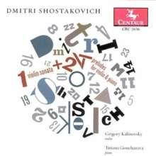 Dmitri Schostakowitsch (1906-1975): Präludien op.34 Nr.1-24 (arr.für Violine & Klavier), CD