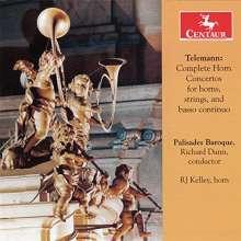 Georg Philipp Telemann (1681-1767): Konzerte für 1,2 oder 3 Hörner, CD