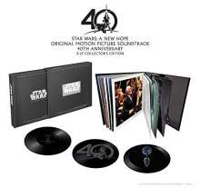Filmmusik: Star Wars: A New Hope (40th-Anniversary-Box-Set) (180g) (Limited-Edition) (Vinyl w/ 3D-Hologram), 3 LPs