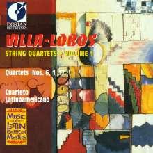 Heitor Villa-Lobos (1887-1959): Streichquartette Nr.1,6,17, CD