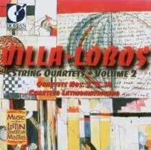 Heitor Villa-Lobos (1887-1959): Streichquartette Nr.3,8,14, CD