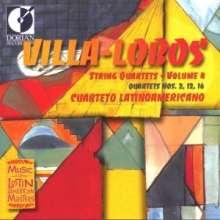 Heitor Villa-Lobos (1887-1959): Streichquartette Nr.2,12,16, CD