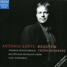 Antonio Lotti (1666-1740): Requiem in F, CD