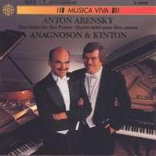 Anton Arensky (1861-1906): Suiten Nr.1-4 für 2 Klaviere, CD