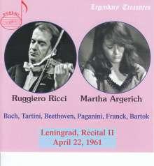Ruggiero Ricci & Martha Argerich - Legendary Treasures, CD