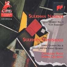 "Sulkhan Nasidze (geb. 1927): Streichquartett Nr.5 ""Con Sordino"", CD"