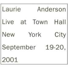 Laurie Anderson: Live At Town Hall, New York City 2001, 2 CDs