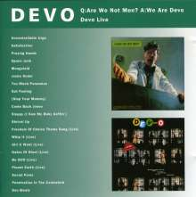 Devo: Q: Are We Not Men? A: We.../Devo Live, CD