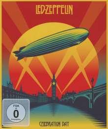Led Zeppelin: Celebration Day: Live 2007 (Digipack Blu-ray-Size), 1 Blu-ray Disc und 2 CDs