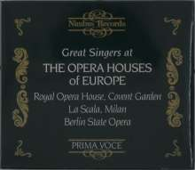 Great Singers at the Opera Houses of Europe, CD