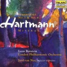 Karl Amadeus Hartmann (1905-1963): Symphonien Nr.1 & 6, CD