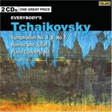 Peter Iljitsch Tschaikowsky (1840-1893): Symphonien Nr.4 & 5, 2 CDs