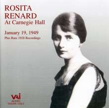 Rosita Renard At Carnegie Hall, 2 CDs