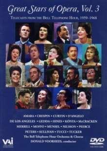Great Stars of the Opera Vol.3, DVD