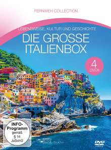 Die grosse Italienbox (Fernweh Collection), 4 DVDs