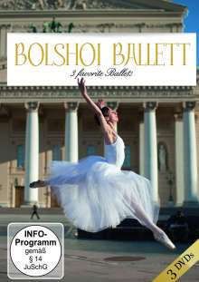 Bolshoi-Ballet Three Favorites Ballets, 3 DVDs