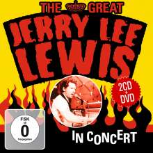 Jerry Lee Lewis: The Great Jerry Lee Lewis In Concert  (2 CD + DVD), 2 CDs und 1 DVD