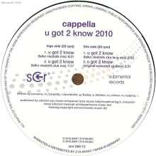 "Cappella: U Got 2 Know 2010, Single 12"""