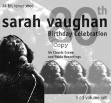 Sarah Vaughan (1924-1990): 80th Birthday Celebration, 3 CDs