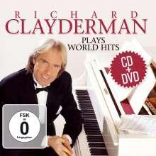 Richard Clayderman: Plays World Hits (2 CD + DVD), 2 CDs und 1 DVD