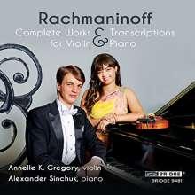 Sergej Rachmaninoff (1873-1943): Werke & Transkriptionen für Violine & Klavier, CD