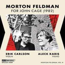 Morton Feldman (1926-1987): For John Cage für Violine & Klavier, CD