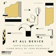 John McDonald (geb. 1959): Klavierwerke, CD