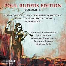 "Poul Ruders (geb. 1949): Klavierkonzert Nr.3 ""Paganini Variations"", CD"