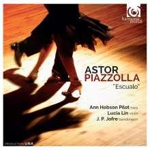 """Astor Piazzolla (1921-1992): Tangos für Bandoneon, Harfe & Violine """"Escualo"""", CD"""