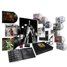 Linkin Park: Hybrid Theory (20th Anniversary Edition) (Limited Super Deluxe Box), 5 CDs, 3 DVDs, 4 LPs, 1 MC und 1 Buch