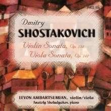 Ambartsumian/sheludyakov: Shostakovich:vln & Vla Sonatas, CD