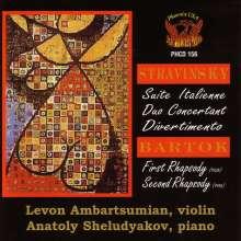 Ambartsumian/sheludyakov: Stravinsky/bartok, CD