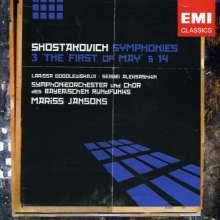 Dmitri Schostakowitsch (1906-1975): Symphonien Nr.3 & 14, CD