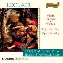 Jean Marie Leclair (1697-1764): Violinkonzerte op.7 Nr.2 & 5;op.10 Nr.1 & 5, CD