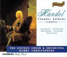 Georg Friedrich Händel (1685-1759): Chandos Anthems Vol.1-4, 4 CDs