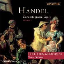 Georg Friedrich Händel (1685-1759): Concerti grossi op.6 Nr.1-5, CD