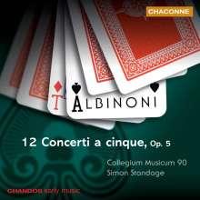 Tomaso Albinoni (1671-1751): Concerti op.5 Nr.1-12, CD