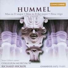 Johann Nepomuk Hummel (1778-1837): Messen Nr.1 & 3 (op.77 & 111), CD